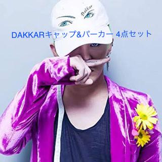 ビッグバン(BIGBANG)のBIGBANG G-DRAGON着用 DAKKARキャップ&パーカー 4点セット(キャップ)