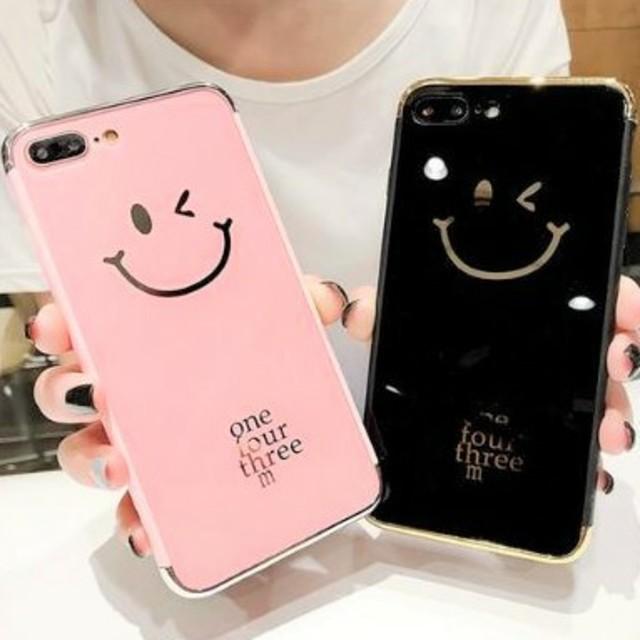 おしゃれ iphone7 ケース 本物 | ⭐かわいい⭐ウィンクスマイリーiPhoneケースの通販 by すなふきん's shop|ラクマ