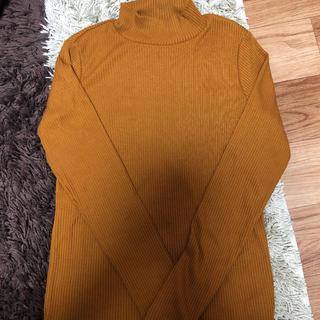 ユニクロ(UNIQLO)のUNIQLO◆リブハイネックTシャツ(長袖)M(Tシャツ(長袖/七分))