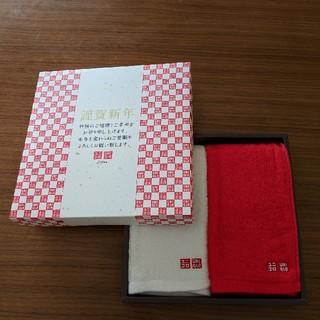 ユニクロ(UNIQLO)の【新品未使用】UNIQLO紅白タオル(タオル/バス用品)