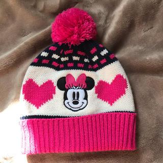 ディズニー(Disney)のミニーちゃんキッズニット帽(帽子)