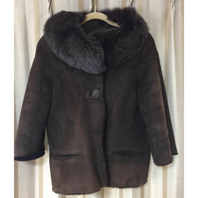 Noble(ノーブル)のNoble リアル ムートン コート 美品 レディースのジャケット/アウター(ムートンコート)の商品写真