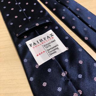 フェアファクス(FAIR FAX)のFairfax フェアファクス  ネイビー×小紋 ネクタイ美品(ネクタイ)