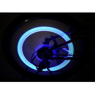 ⦅タイヤLED✨⦆自動車 自転車 ドライブ カスタマイズ 4個セット ブルー(車外アクセサリ)