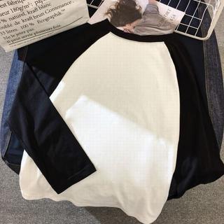 【訳あり】ラグラン Tシャツ ロンT メンズ レディース 無地/m0746-1 (Tシャツ(長袖/七分))
