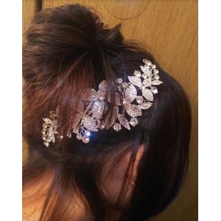 ヘアアクセサリー 髪飾り ブライダルティアラ(その他)