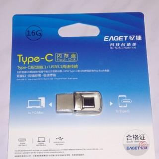 EAGET USBメモリー16GBデュアルプラグ(USB 3.1&Type-C)(PC周辺機器)
