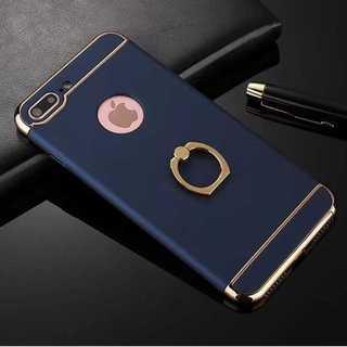 MC111 バンカーリング付きハードiphone8/7ケース 青(キーホルダー)