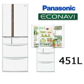 パナソニック(Panasonic)のpanasonic 冷蔵庫 nr-fvf452-w(冷蔵庫)