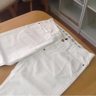 アーネストソーン(earnest sewn)の新品 アーネストソーン 白 パンツ 34 チノパン(デニム/ジーンズ)