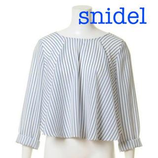 スナイデル(snidel)のSNIDEL スナイデル✨ショート丈フレアブラウス✨(カットソー(長袖/七分))