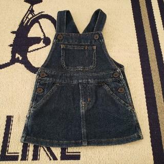 ムジルシリョウヒン(MUJI (無印良品))の無印良品 デニム サロペットスカート (90)美品(ワンピース)