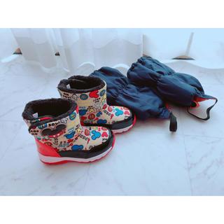 ディズニー(Disney)のDisney 防水 防寒 スパイク付 ブーツ ミッキー (ブーツ)