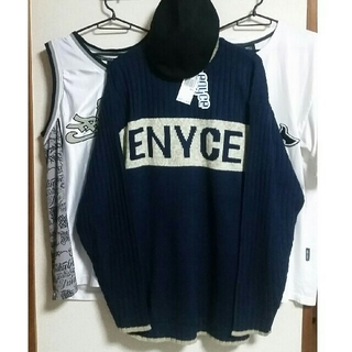 エニーチェ(ENYCE)の[新品、レア物] ENYCE XXL セーター & ニットキャップ付き(ニット/セーター)