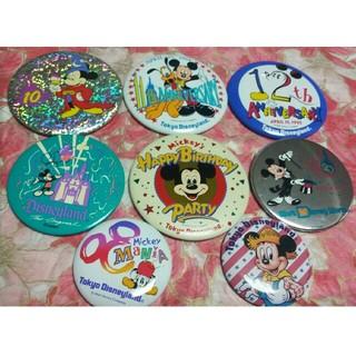 ディズニー(Disney)のディズニーランド 缶バッチ 8個セット(バッジ/ピンバッジ)