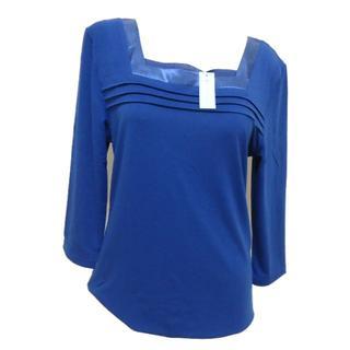 3L・ダークブルー■スクエアネック8分袖インナー■ 【大きいサイズ】(アンダーシャツ/防寒インナー)