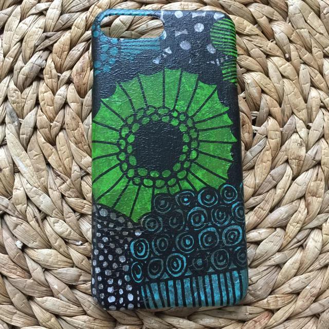 iPhone7Plus /8Plus マリメッコ  ハンドメイド ハードケースの通販 by さとみさくら's shop|ラクマ