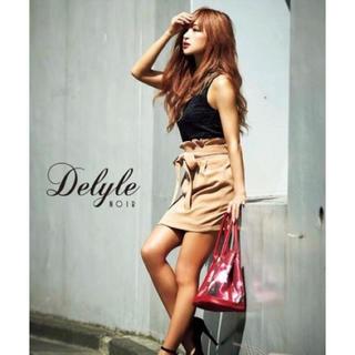デイライルノアール(Delyle NOIR)のデイライル☆リボンタックスカート☆ブラウン☆(ミニスカート)