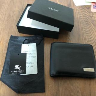 バーバリーブラックレーベル(BURBERRY BLACK LABEL)のバーバリー 黒 折りたたみ財布(折り財布)