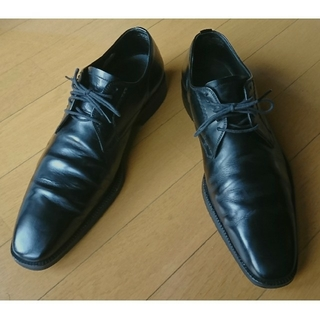 バーバリー(BURBERRY)のBURBERRY 革靴(黒) サイズ25 1/5 EEE(ドレス/ビジネス)