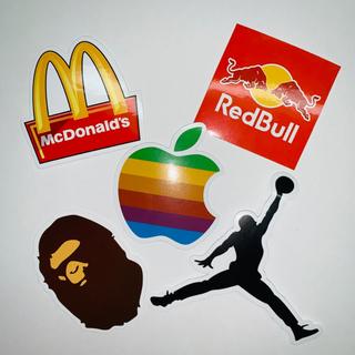 アディダス(adidas)のロゴ ステッカー マクドナルド エアジョーダン レッドブル adidas(ステッカー)