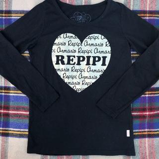 レピピアルマリオ(repipi armario)のレピピ 黒にゴールドの長袖Tシャツ サイズS(Tシャツ/カットソー)