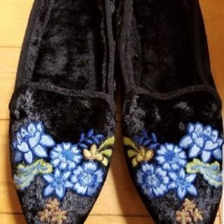 ジーユー(GU)のGUレディース内ボア付き靴サイズMブラック(その他)