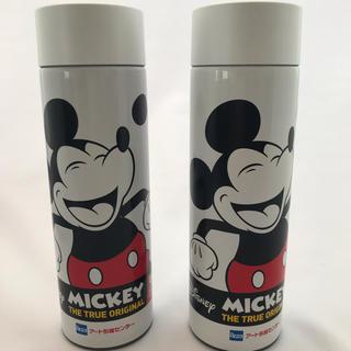 ディズニー(Disney)のミッキーマウス90周年記念デザインアートオリジナルボトル 2本セット 非売品(タンブラー)