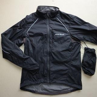 mont bell - モンベル/ライトシェル冬用サイクルジャケットL/ブラック