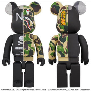 A BATHING APE - BAPE CAMO SHARK BE@RBRICK 1000%