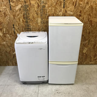 パナソニック(Panasonic)の地域限定送料無料!安値!家電2点セット シャープ洗濯機 パナソニック冷蔵庫(冷蔵庫)