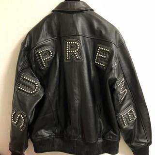 シュプリーム(Supreme)のsupreme studded arc leather jacket S レザー(レザージャケット)
