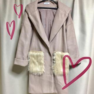 シマムラ(しまむら)の新品 ポケットファーコート(ロングコート)