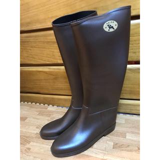 ダフナ(Dafna)のダフナ レインブーツ ダークブラウン 40サイズ(レインブーツ/長靴)