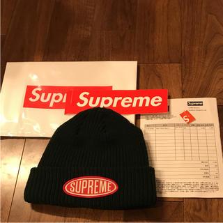 シュプリーム(Supreme)のSupreme Oval Patch Beanie ニット帽 グリーン(ニット帽  fb9e03acb0df
