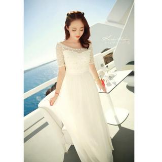 花嫁 二次会 ワンピース ドレス