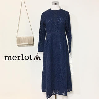 merlot - 完売品 メルロープリュス 花柄総レース ドレス ワンピース フォーマル