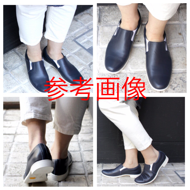 chausser(ショセ)のショセ chausser トラベルシューズ スリッポン ネイビー 23.5 レディースの靴/シューズ(ローファー/革靴)の商品写真