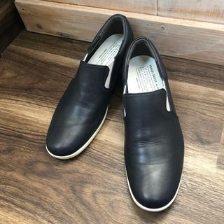 ショセ(chausser)のショセ chausser トラベルシューズ スリッポン ネイビー 23.5(ローファー/革靴)