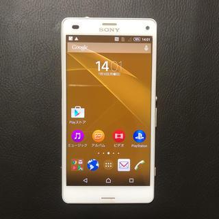 エクスペリア(Xperia)の美品 docomo Xperia Z3 Compact SO-02G ホワイト(スマートフォン本体)