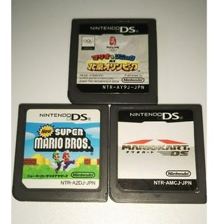 ニンテンドーDS(ニンテンドーDS)の任天堂DSソフトのみマリオ3点セット(携帯用ゲームソフト)