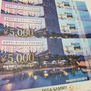 セガ(SEGA)のセガサミー 株主優待券 ¥5,000 4枚セット(遊園地/テーマパーク)