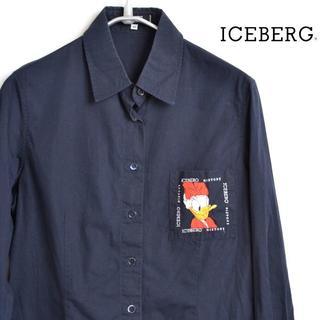 アイスバーグ(ICEBERG)のAS4520 アイスバーグ ICEBERG 長袖シャツ 女性 44 L 肩38 (シャツ/ブラウス(長袖/七分))
