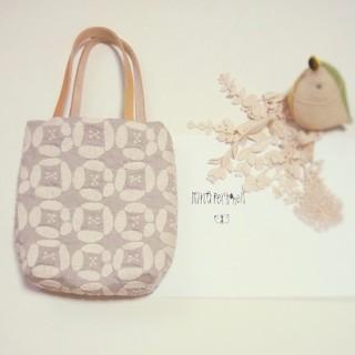 handmade ∞ミナペルホネン dear ランチトート バッグ beige