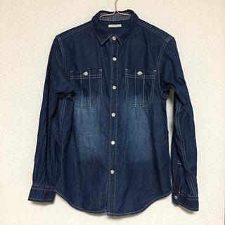 GU - 💚GU 色落ち加工デニムシャツ (140cm)