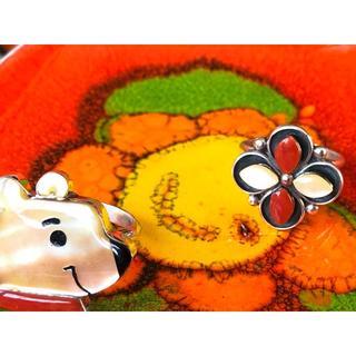 ☆ 『カラフルなよつ葉のクローバー』ピンキーリング・col.コーラル&イエロー(リング(指輪))