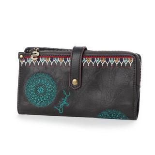 デシグアル(DESIGUAL)のデシグアル (Desigual)★お花柄刺繍の長財布 ロングウォレット(財布)