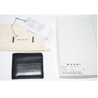 マルニ(Marni)の 付属品有り MARNI マルニ 二つ折りレザーウォレット/財布(折り財布)
