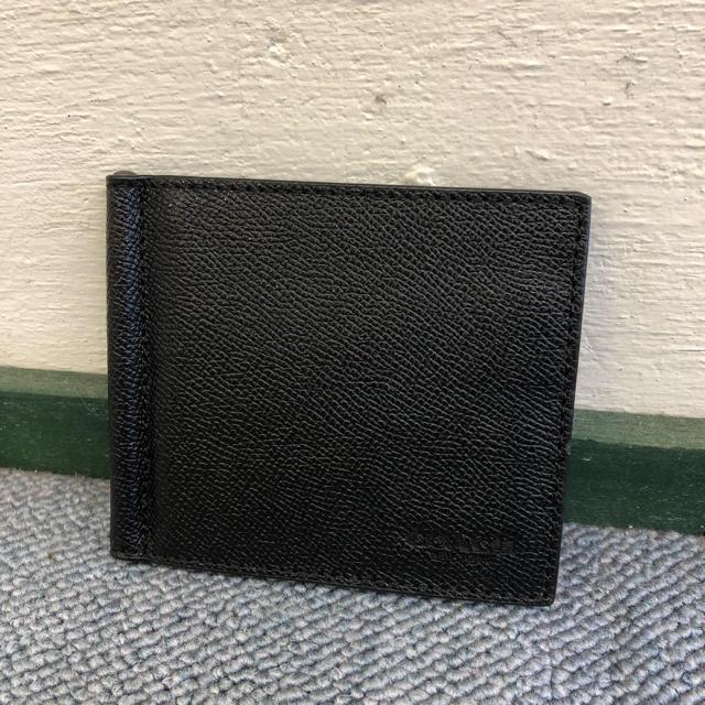 98fa17f06498 COACH(コーチ)のコーチ 新品 マネークリップ カードケース レザー ブラック C0382 メンズのファッション
