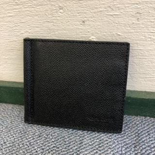 コーチ(COACH)のコーチ 新品 マネークリップ カードケース レザー ブラック C0382(マネークリップ)